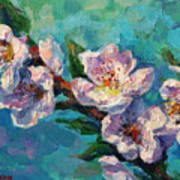 Peach Blossoms Flowers Painting Art Print