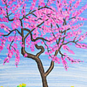 Peach Tree, Painting Art Print