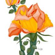 Peaches And Creme Art Print