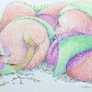 Peaches And Plums Art Print
