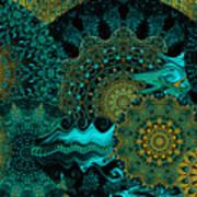 Peacock Fantasia Art Print