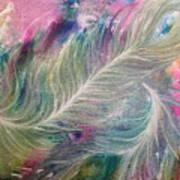 Peacock Feathers Pastel Art Print