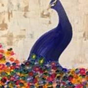 Peacock In My Garden Art Print