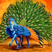 Peacock Pegasus Art Print