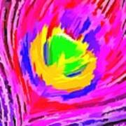 Peacock Rainbow Art Print