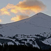 Peak 8 At Dusk - Breckenridge Colorado Print by Brendan Reals