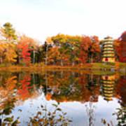 Peak Autumn Reflection 7 Art Print