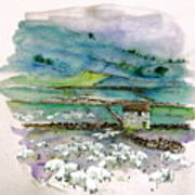 Peak District Uk Travel Sketch Art Print