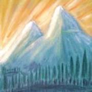 Peaks At Sunrise Art Print