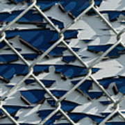 Pealing Paint Fence Abstract 1 Art Print