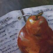 Pear Meets Cookbook Art Print