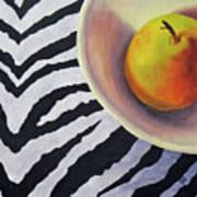 Pear On Zebra Art Print