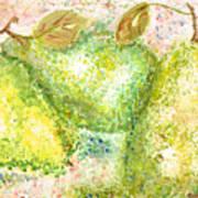 Pear Trio Art Print