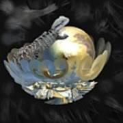 Pearl Egg Lizard Art Print