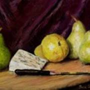 Pears And Cheese Art Print by Jack Skinner