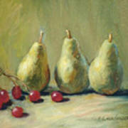 Pears And Grapes Art Print