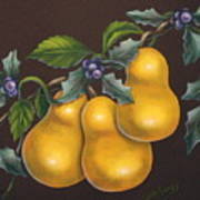 Pears And Holly Art Print
