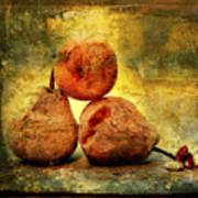 Pears Art Print by Bernard Jaubert