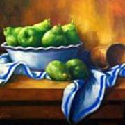 Pears In A Bowl Art Print