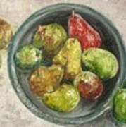 Pears In Bowl Art Print