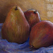 Pears In Natural Light Art Print