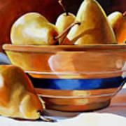 Pears In Yelloware Art Print
