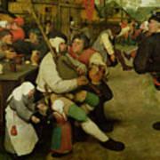 Peasant Dance Print by Pieter the Elder Bruegel