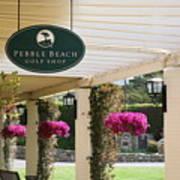 Pebble Beach Golf Shop  Art Print