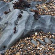 Pebble Beach Rocks 8715 Art Print