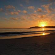 Pebble Beach Sunset Art Print