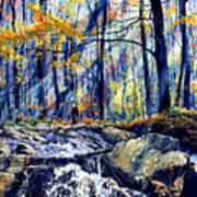 Pebble Creek Autumn Art Print