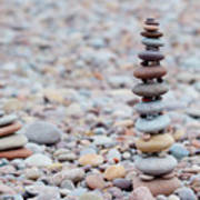 Pebble Stack II Art Print