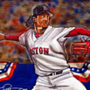 Pedro Martinez Art Print by Dave Olsen