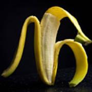 Peeled Banana. Art Print