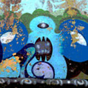 Peeling Graffiti Art Print