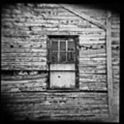 Peeling Wall And Cool Window At Fort Delaware On Film Art Print