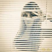 Peeping Alex Art Print