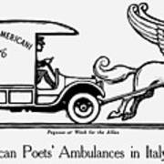 Pegasus At Work For The Allies Art Print