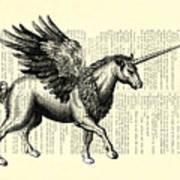 Pegasus Black And White Art Print