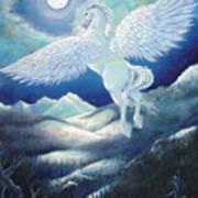 Pegasus Art Print by Heather Calderon