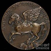 Pegasus Soaring Above Parnassus [reverse] Art Print