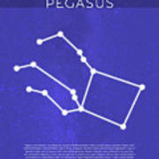 Pegasus The Constellations Minimalist Series 11 Art Print
