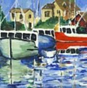 Peggys Cove 3 Fisherman Art Print