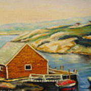 Peggys Cove  Harbor View Art Print