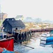 Peggy's Cove Harbour Art Print