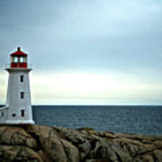 Peggy's Cove Lighthouse - Photographers Collection Art Print