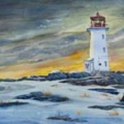 Peggy's Cove Lighthouse Art Print