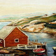 Peggys Cove Nova Scotia Landmark Art Print