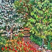 Peggys Garden Art Print