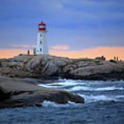 Peggy's Point Lighthouse, Nova Scotia, Canada Art Print
